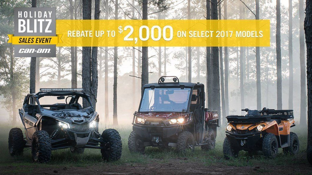 CAN-AM HOLIDAY BLITZ SALES EVENT- Renegade Rebates
